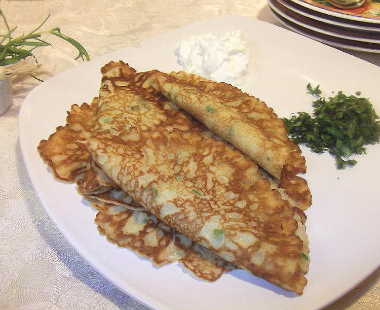 Spinach Crêpes with Goat Cheese and Herbs from Best of Fine Cooking ...
