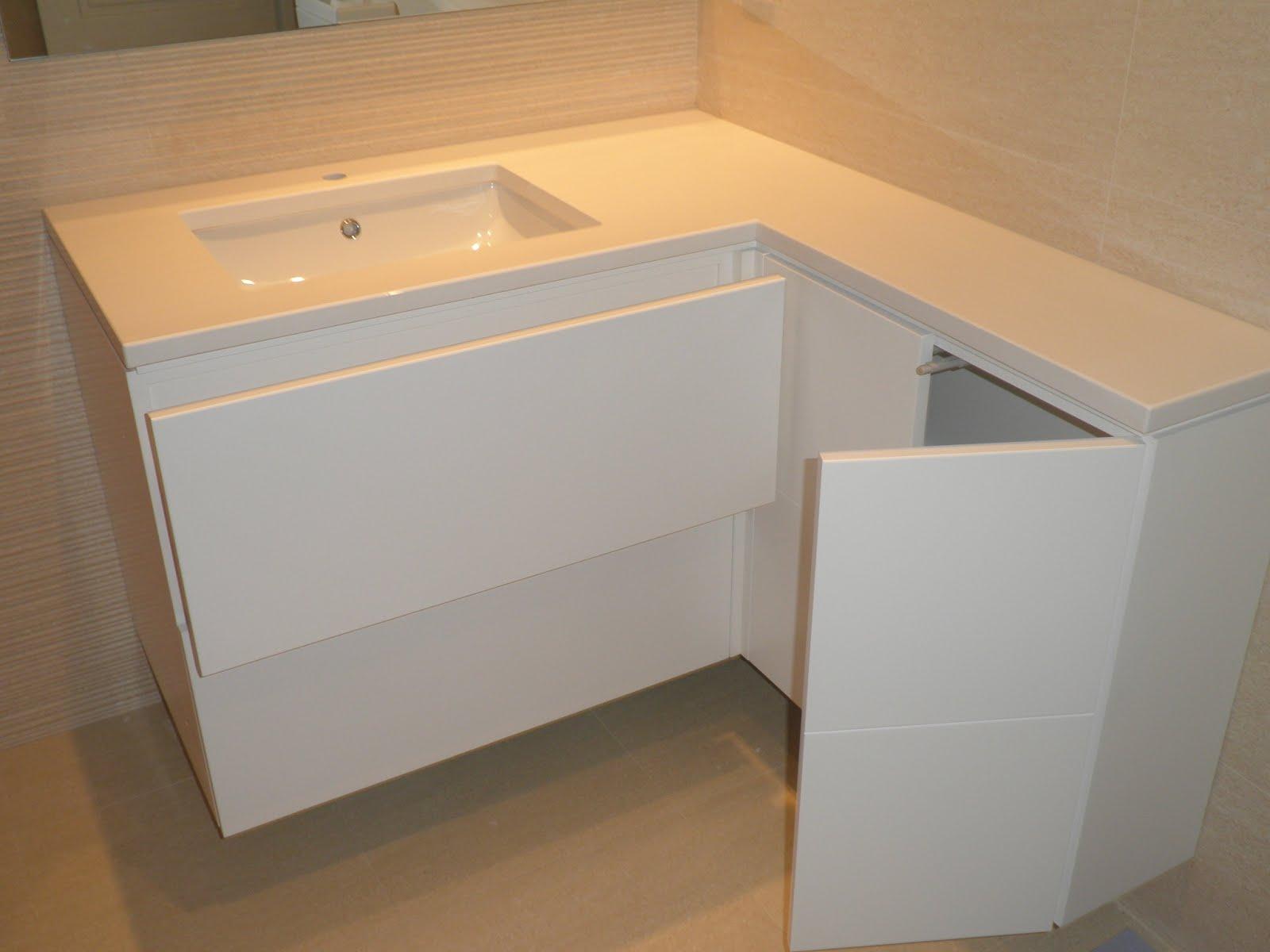Mueble para lavabo lacado muebles cansado zaragoza - Mueble para lavabo ...
