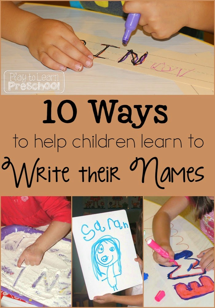 Teaching preschoolers how to write their name