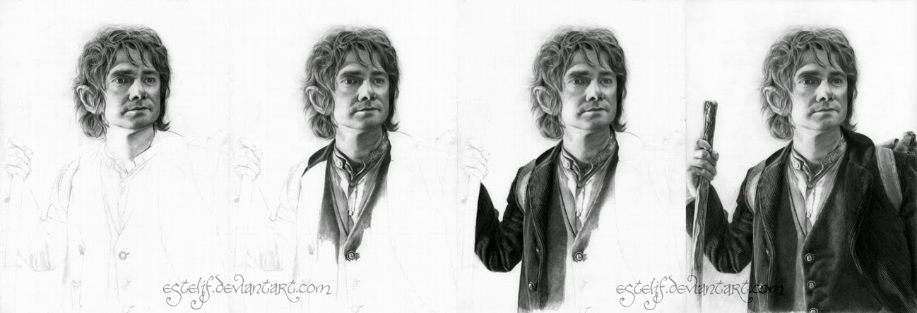 04-Bilbo-Baggins-Martin-Freeman-Josi-Fabri-Esteljf-The Hobbit-LotR-www-designstack-co