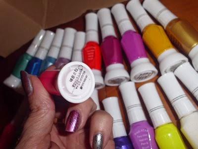 lote de esmaltes de colores