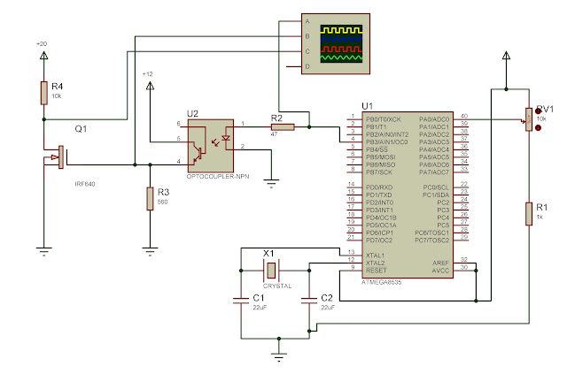 optocoupler irf640 triggering with power mosfet