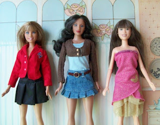 Mattel Rebelde Mia, YBU Group Mixis Rosa, and Disney Camp Rock Mitchie Torres