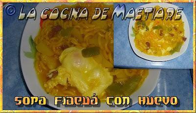 Sopa fideuá con huevo SOPA+FIDEUA+CON+HUEVO