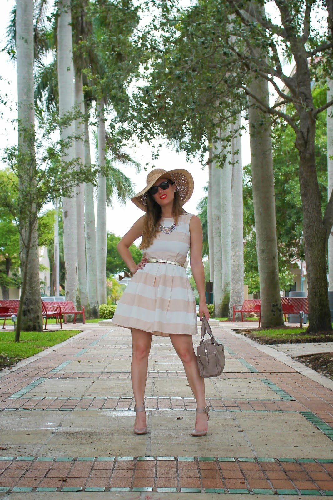 Gap, Gap Lincoln Road, sunhat, classic, prep, metallic, Kate Spade, Nordstrom, Nine West, stripes, Ray-Ban, summer style