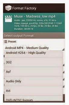 Cara Converter/Merubah Format Video Dan Audio Di Smartphone Android Dengan Menggunakan Aplikasi Format Factory For Android Dan  video converter mp3