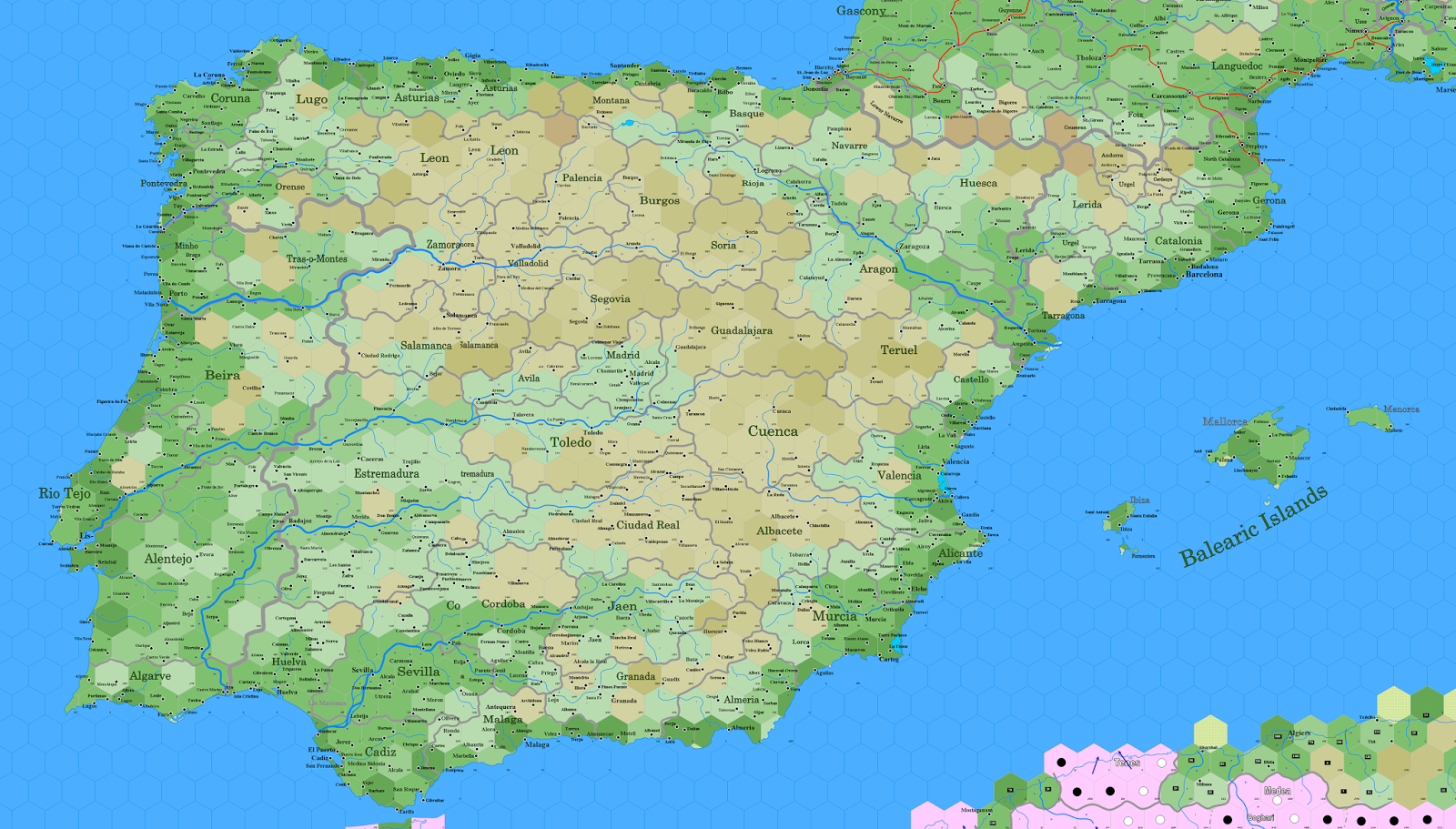 The Tao Of DD Spain Portugal - Portugal map coast
