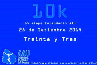 10k Treinta y Tres (AAU, 28/sep/2014)