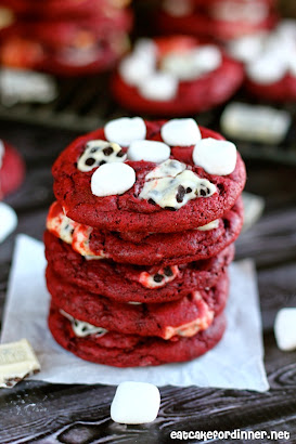 Cookies 'n Cream Marshmallow Red Velvet Cookies