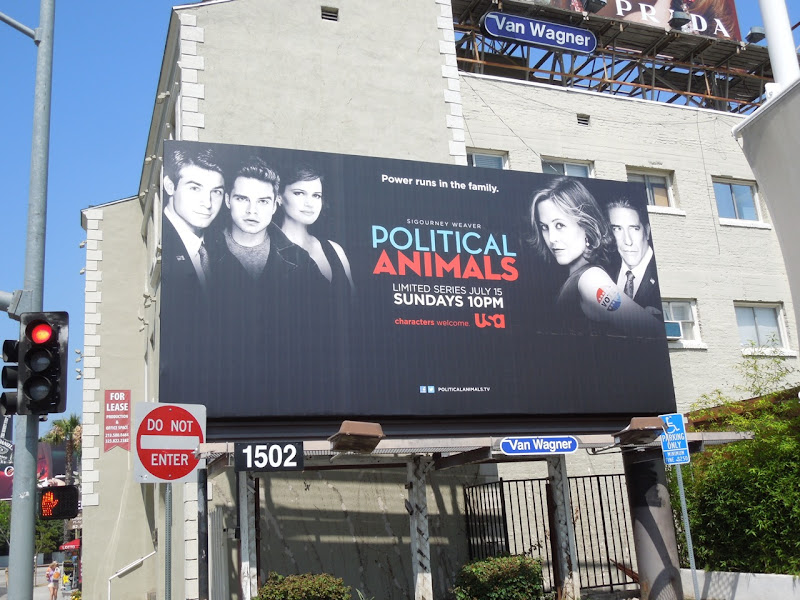 Political Animals billboard