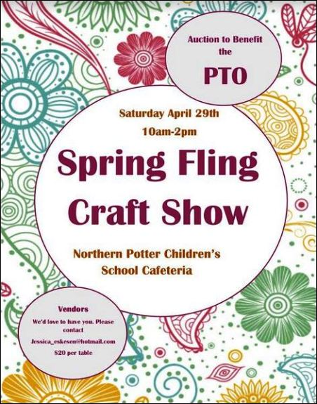 4-29 PTO Spring Fling Craft Show, Ulysses, PA