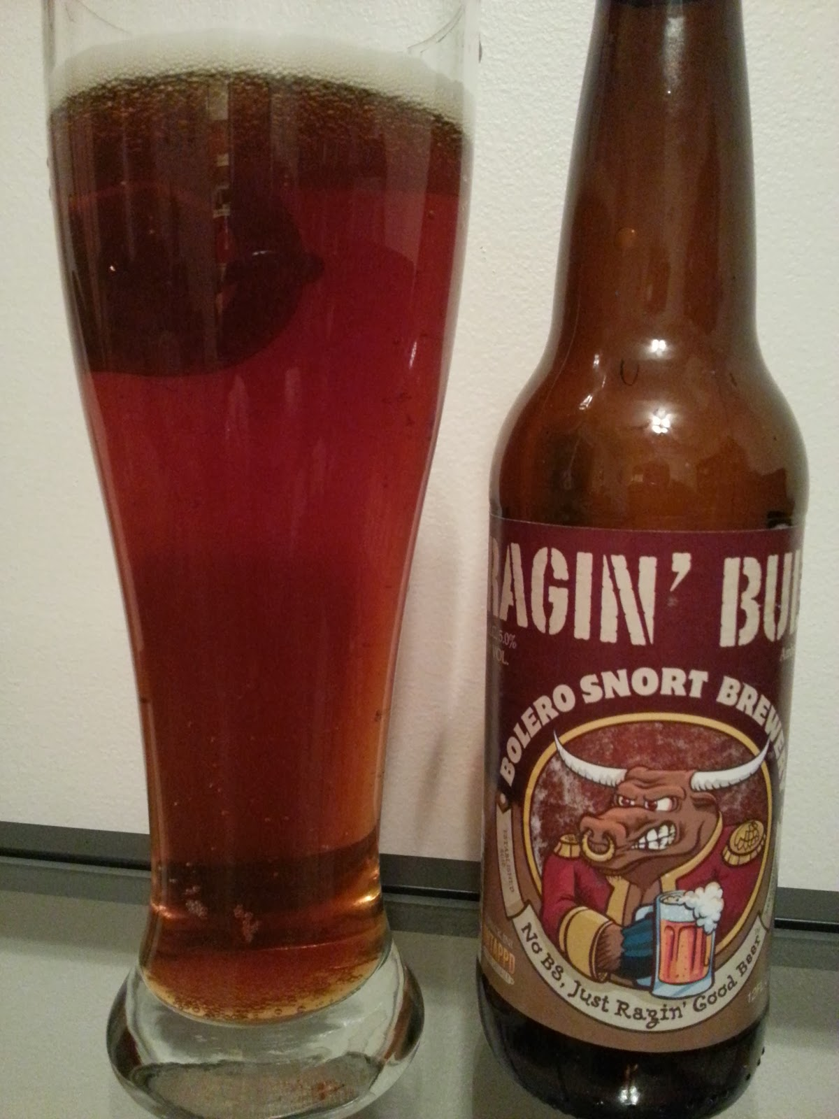 Bolero Snort Brewery, Ragin' Bull, Amber Lager, New Jersey Craft Beer