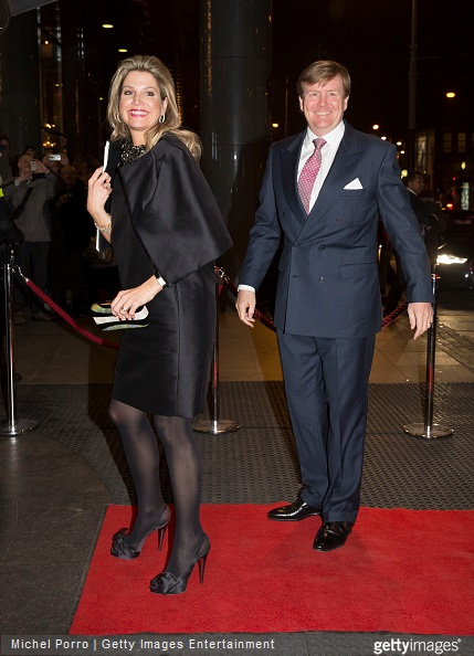 Queen Maxima of The Netherlands and King Willem-Alexander of The Netherlands arrive to attend the final concert by conductor Mariss Jansons with the Royal Concertgebouw Orchestra