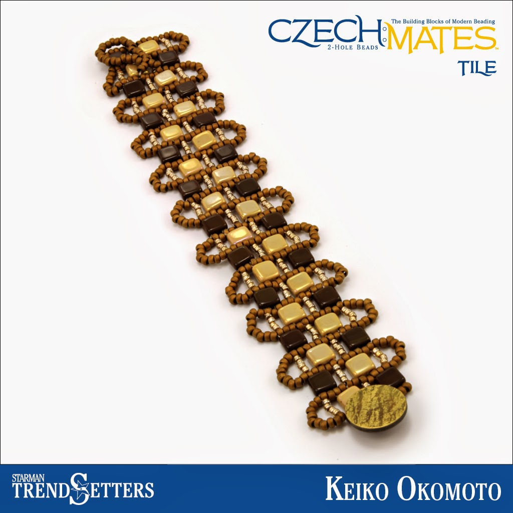 CzechMates Tile bracelet by Starman TrendSetter Keiko Okomoto