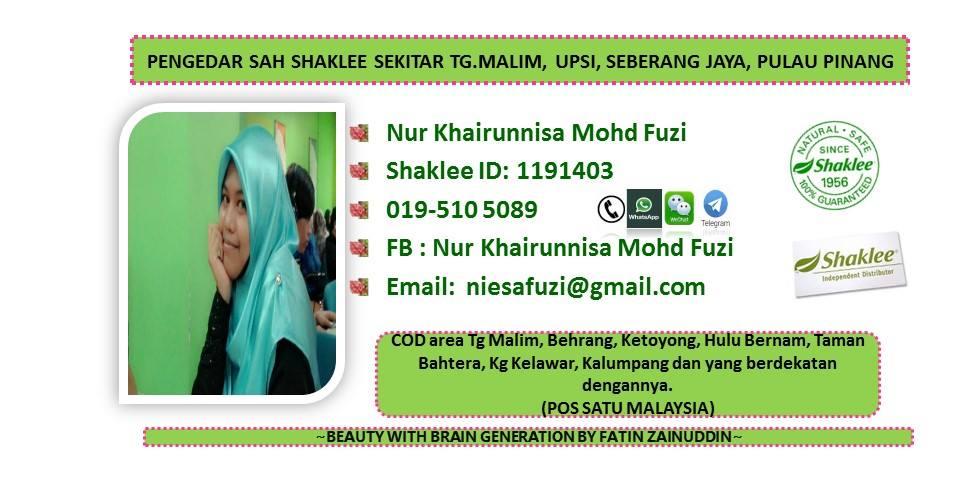 Pengedar Sah Shaklee UPSI, Tanjong Malim, Seberang Jaya,