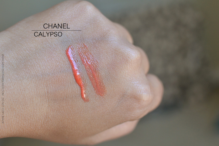 Chanel Levres Scintillantes Glossimer Calypso 337 Photos Swatches Review FOTD Lipgloss Indian Darker Skin Beauty Makeup Blog