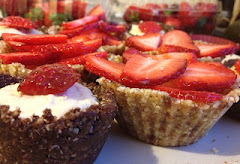 Raw Strawberry Banana Cream Tarts