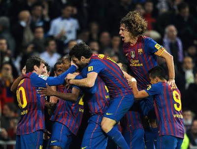 Barca Menang Kalahkan Madrid 2-1 di Bernabeu