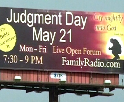 judgment day billboard. may 21 judgment day billboard.