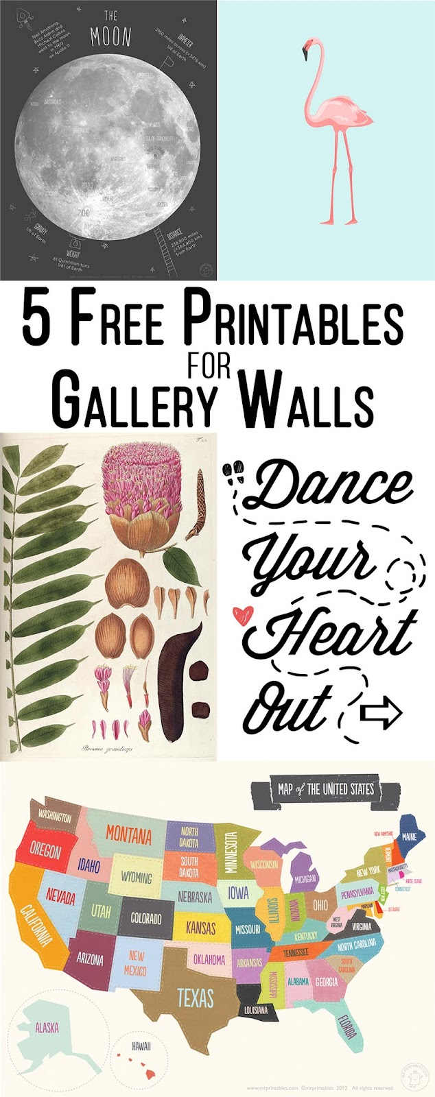 5 Free Printables for Gallery Walls - littleladylittlecity.com