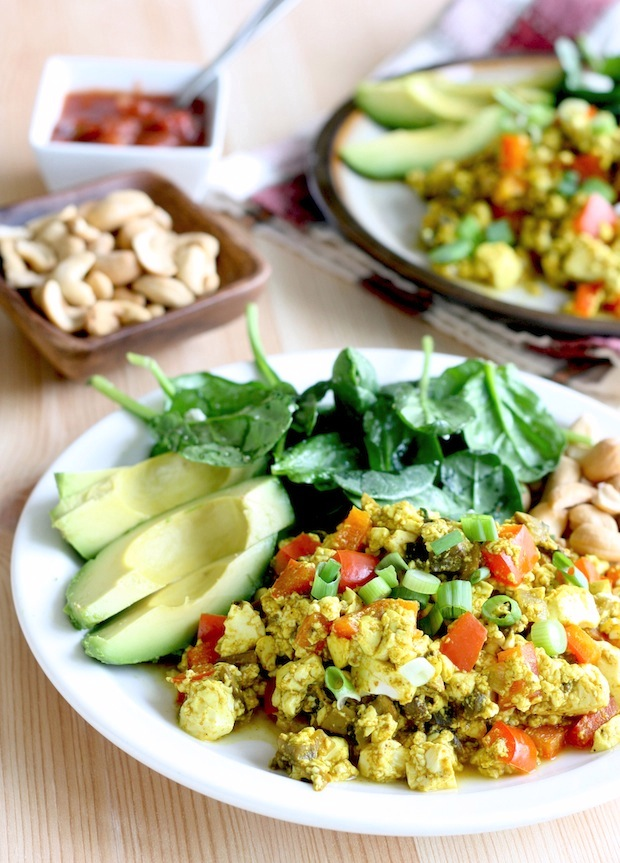 Curried Scrambled Tofu by SeasonWithSpice.com