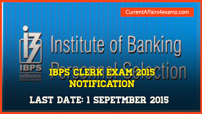 IBPS Clerk 2015 Notification