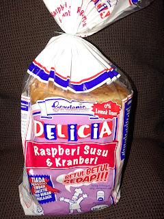 roti gardenia, roti baru, delicia, raspberi susu and kranberi, sedap, lebih sedap dari butterscotch, butterscotch