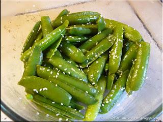 steamed garden peas