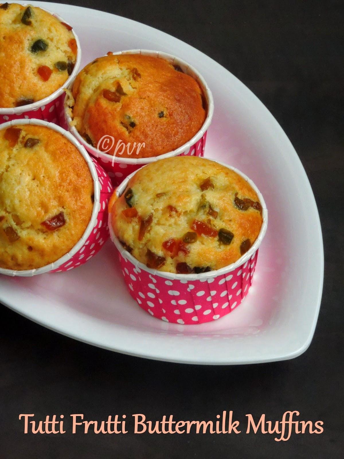 Buttermilk Tutti fruitti Muffins