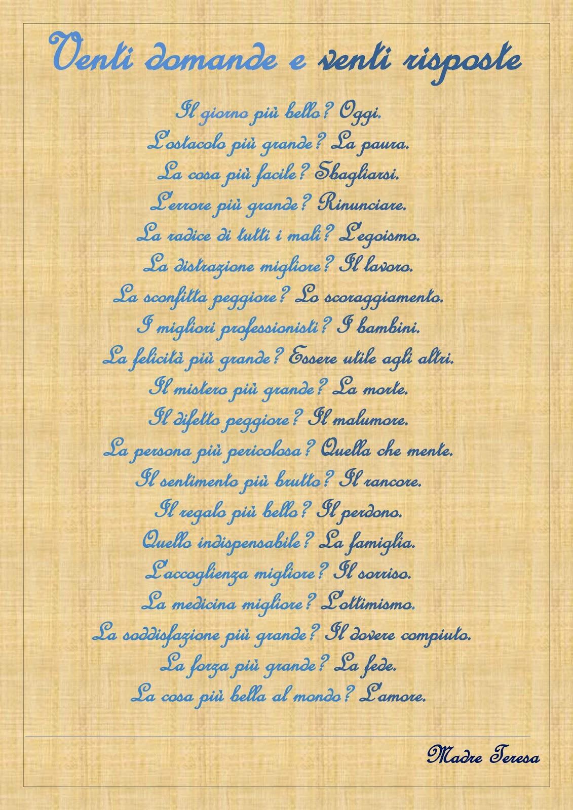 Estremamente Vita e Poesia: LA MIA INTERVISTA A MADRE TERESA AY65