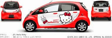 Gambar Mobil Hello Kitty Lucu Mitsubishi i-MiEV 2014