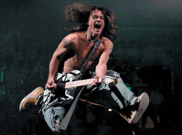 The usual Van Halen jumping around