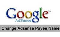 Change Google Adsense Payee Name