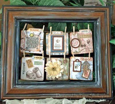 Provence Altered Frame by Lynn Shokoples for BoBunny