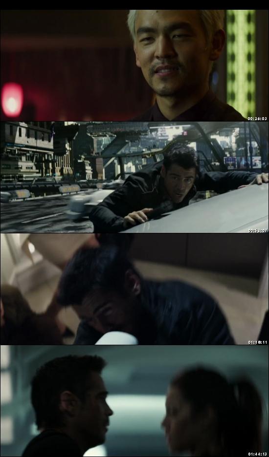 Screen Shot Of Total Recall 2012 In Hindi English Dual Audio Bluray