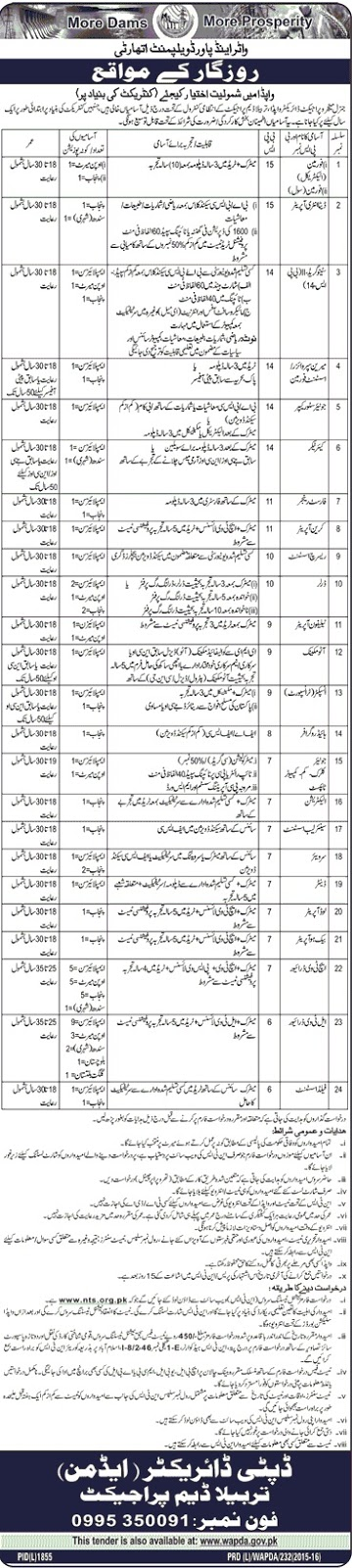 Jobs in Wapda Pakistan