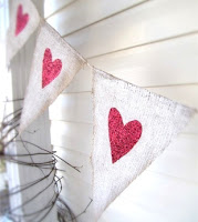 Burlap Pennant Banner from Funkyshique