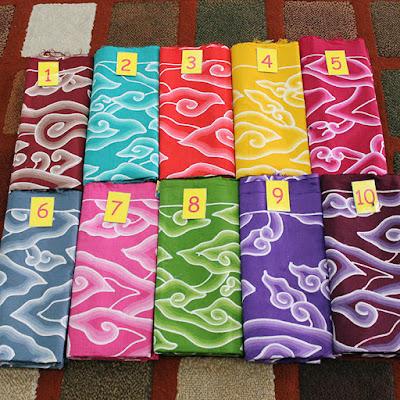 Batik Mega Mendung, motif batik khas Cirebon ~ Image Credit