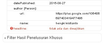 cara mengatasi error headline missing di blog