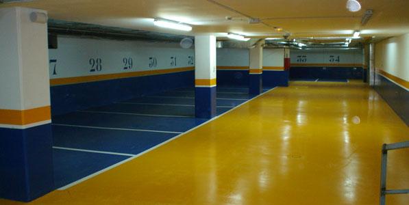 Limpieza garajes mallorca - Pintura suelo parking ...