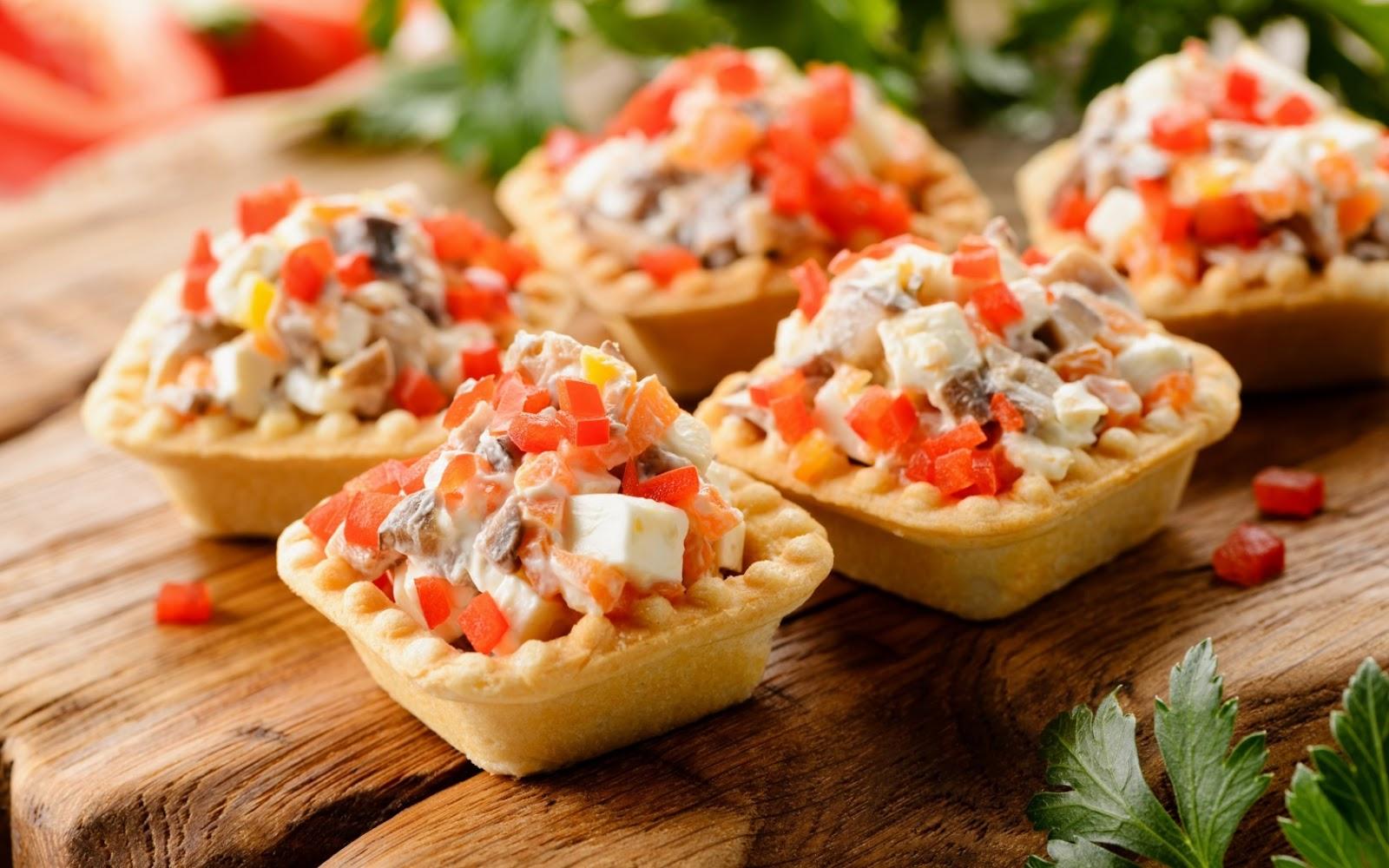 Горячий салат в тарталетках рецепты с фото