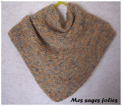 Cheche point mousse/garter stitch shawl