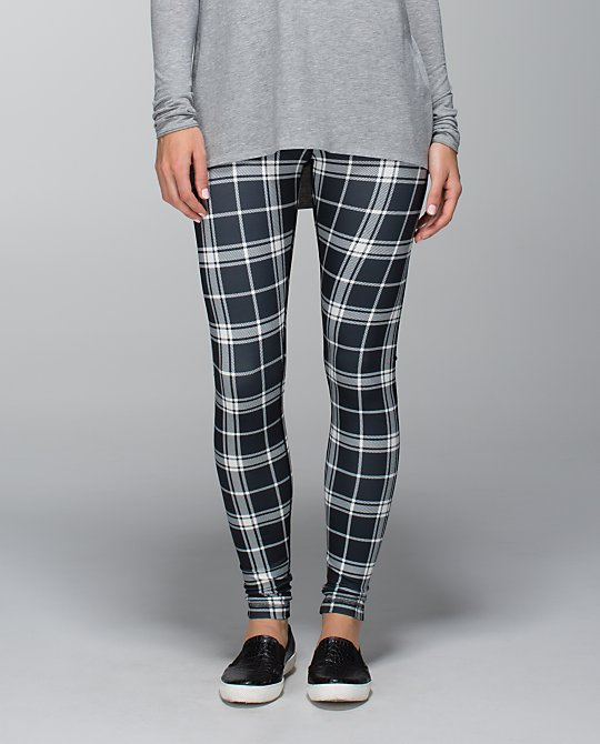 lululemon varsity plaid printed ghost wunder under pant