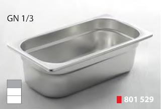 Recipente Gastronomice. Accesorii pentru Dotari HoReCa, Tava GN 1/3 Inox, Cuva GN 1/3 Inox, Vascheta Gastronorm GN 1/3 Inox, Recipiente Inox pentru Bucatarii Profesionale, Pret