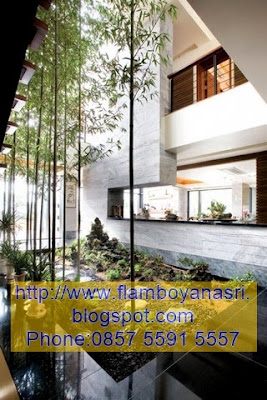 Tukang Taman Surabaya Konsep Bambu