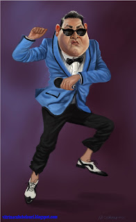 psy, gangnam style, caricature, cartoon,vitrina cu bebelouri