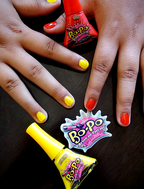 #BoPoFun with Bo-Po Peel and Wash Of Single Day Nail Color.