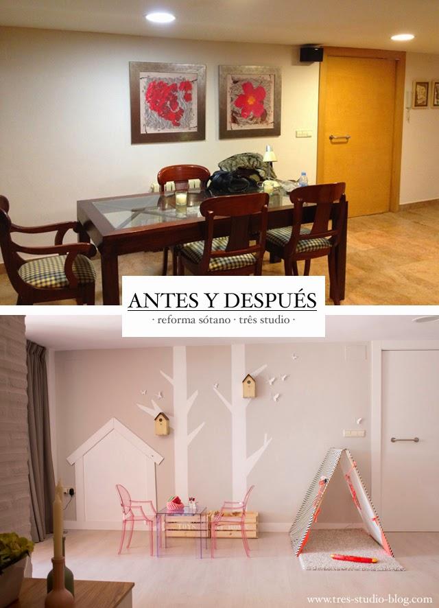 Reformas tr s de s tano a chalet de estilo n rdico en valencia ii parte sal n tr s studio - Reforma piso pequeno antes y despues ...