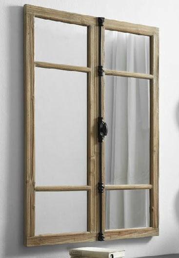 Espejo ventana rustico, espejo rustico