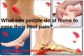 What can people do at home to ease their heel pain?